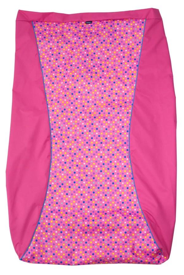 Pink spotty print Seenin waterproof wheelchair leg cover