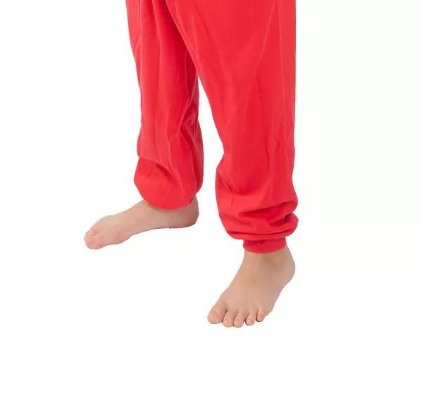 Legs of Seenin children's red and navy zip sleepsuit without feet