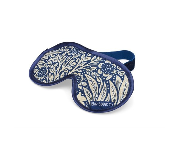 Eye mask in marigold indigo pattern