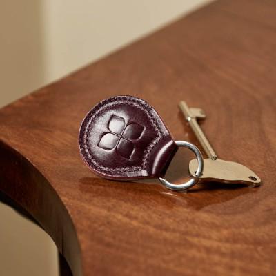 RADAR Key with Leather Keyring in Burgundy