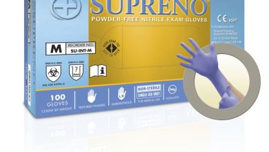 Photo of Supreno extra-strength disposable nitrile gloves