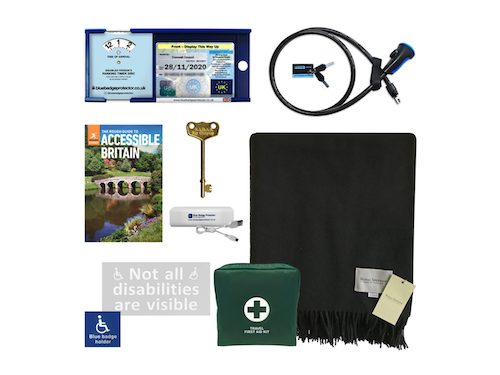 Disabled driver's accessory set