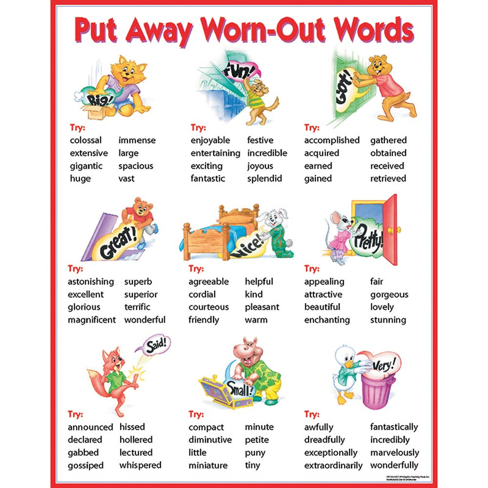 Chart Put Away WornOut Words  CTP5624  Creative