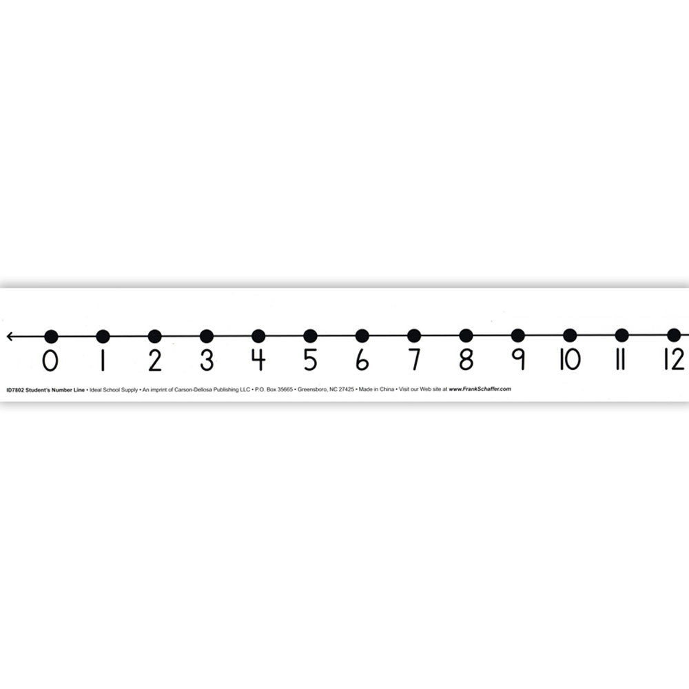 Number Line Student W/ 12/Pk Adhesive 2 X 24 Mark-On/Wipe