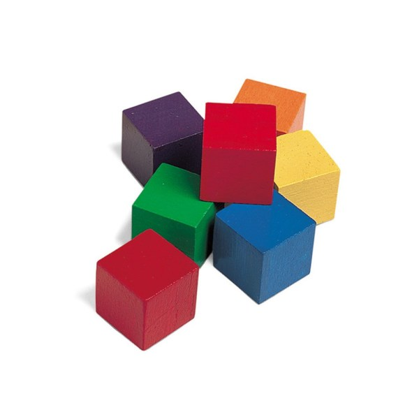Wooden Color Cubes 102pk - Ler0136 Learning Resources Creative Play Blocks
