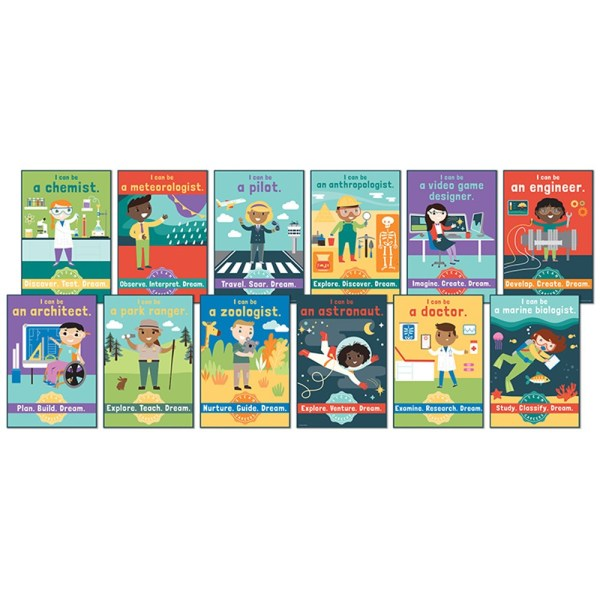 Steam Careers Bulletin Board Set - Cd-110383 Carson Dellosa