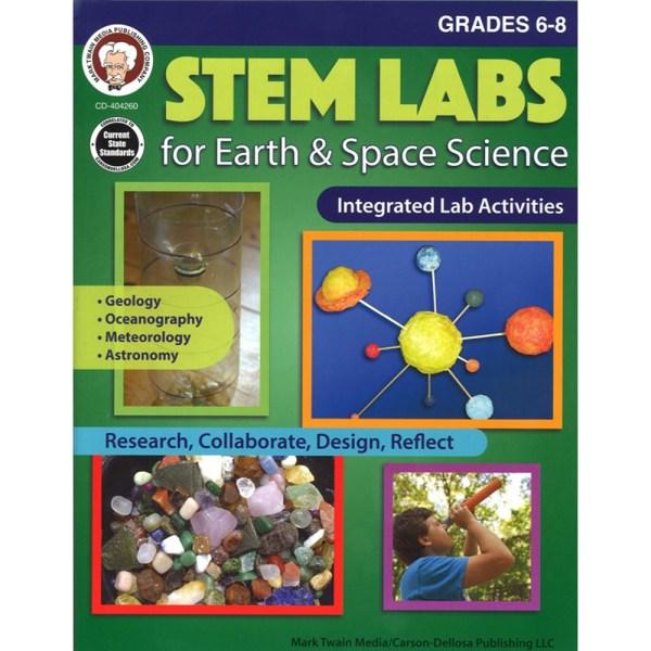 Stem Labs Earth Space Sci Bk Gr 6-8 - Cd-404260 Carson