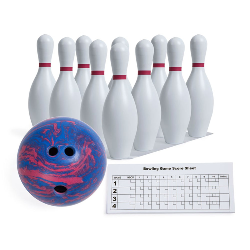 plastic bowling pin set