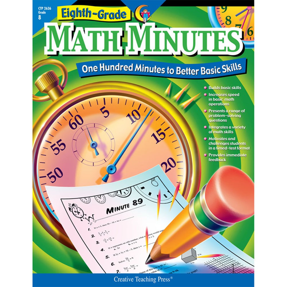 medium resolution of Eighth-Grade Math Minutes Book - CTP2636   Creative Teaching Press    Activity Books
