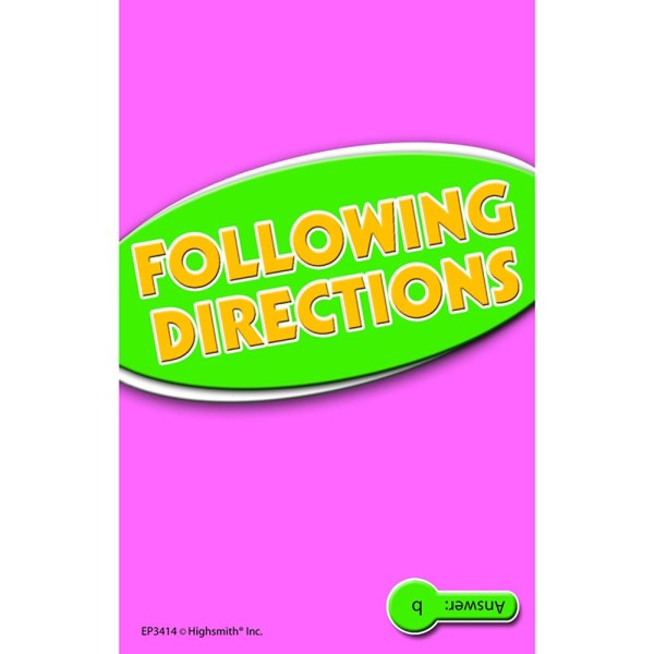 Directions Practice Cards Reading Level 5.0-6.5