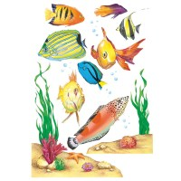 Window Cling Fish 12 X 17