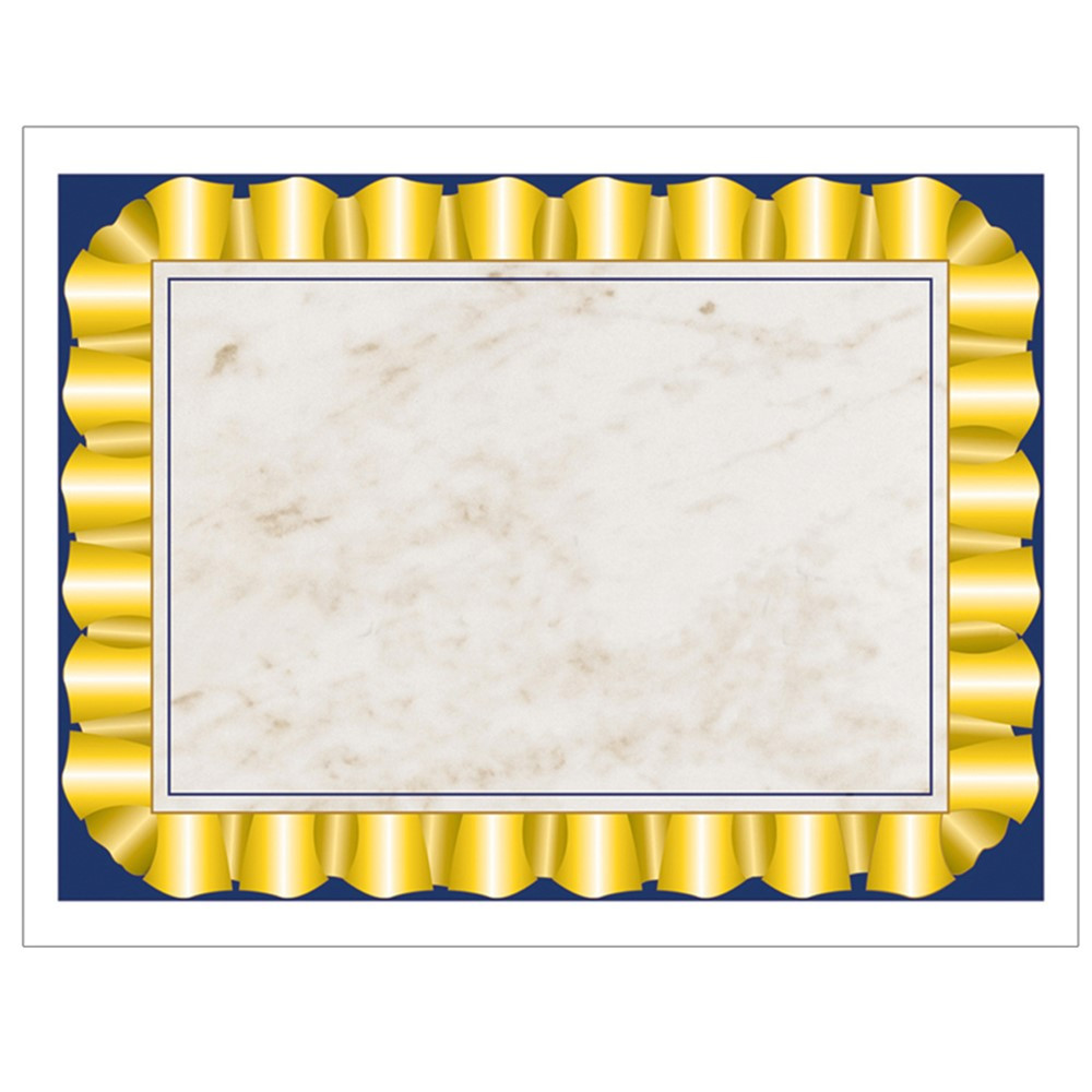 gold ribbon certificate border