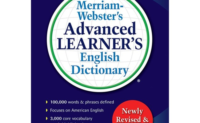 Advanced Learner English Dictionary Merriam Webster Mw