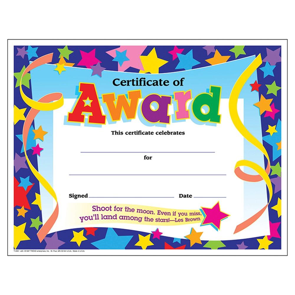printable kindergarten certificates of achievement