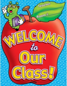 Chart welcome to our class  plastic coated tf scholastic teaching resources also rh dkclassroomoutlet