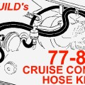 1978 1981 corvette cruise control ribbed vacuum hose kit replaces gm
