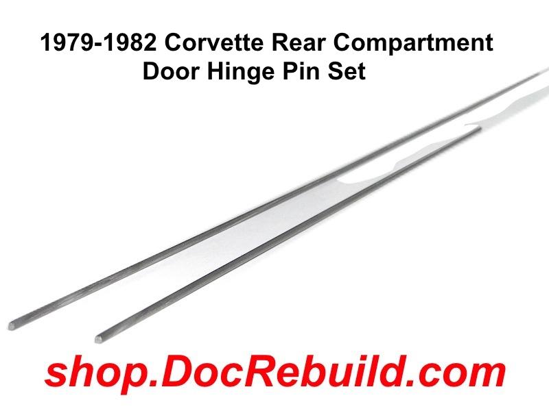 1979-1982 Corvette Rear Compartment Door Hinge Pin Set