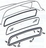 1964-1981 Corvette Glass Rubber Spacer Genuine GM 4871330 NOS