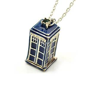 TARDIS 'Public Call Office' Necklace