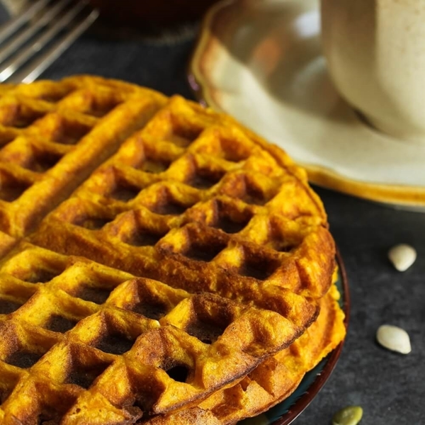 Picture of KETO Pumpkin Spice Chaffles