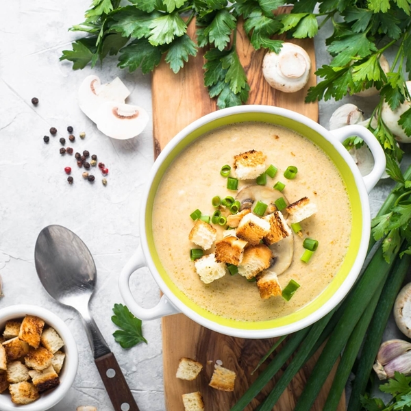 Picture of Creamy Mushroom & Chicken Soup