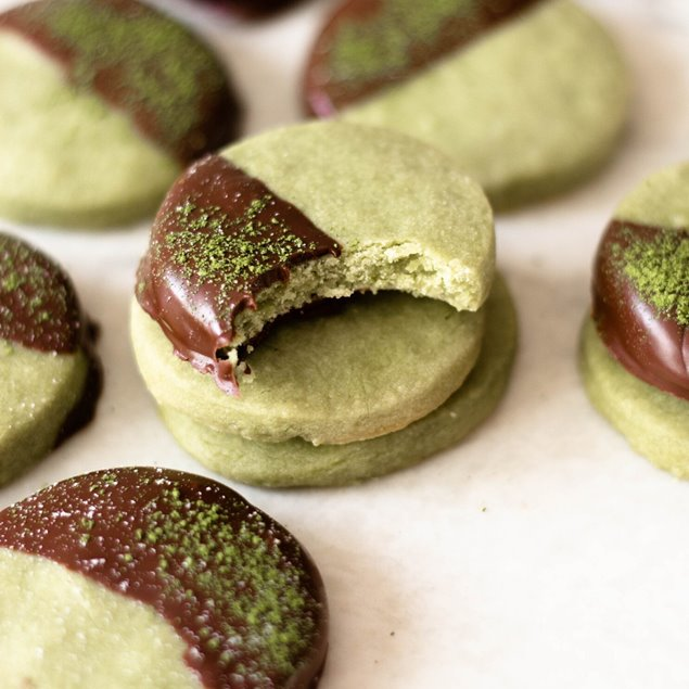 Picture of Sugar Free + Gluten Free Matcha Shortbread