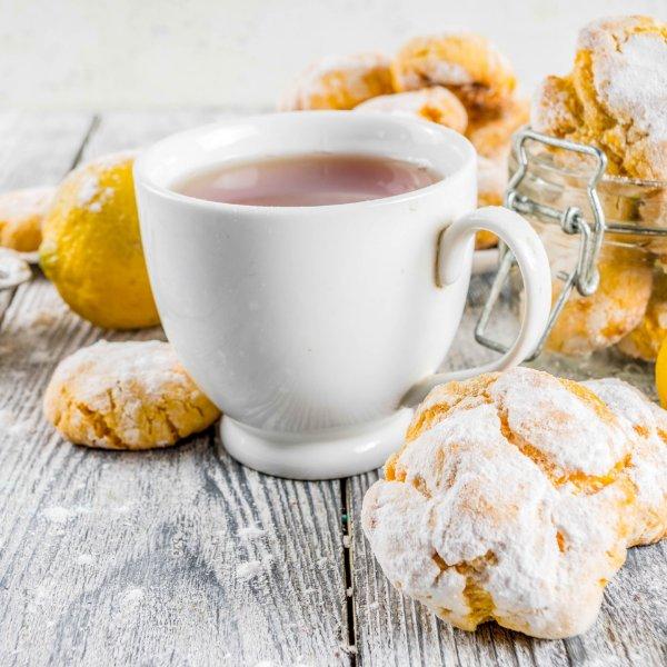 Picture of KETO + Sugar Free Lemon Citrus Crinkle Cookies