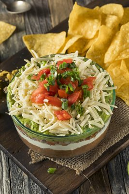 Mexican 7 Layer Bean Dip