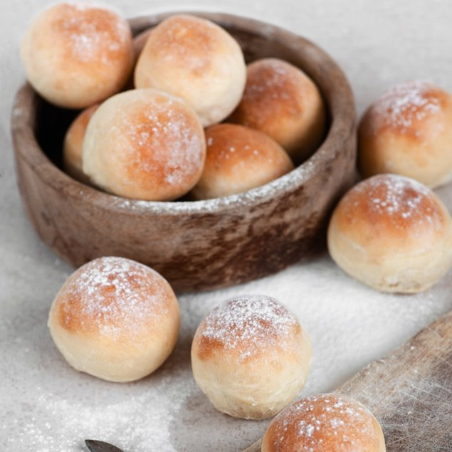 Picture of No Knead Overnight Hamburger & Dinner Rolls