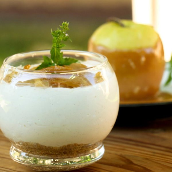 Picture of Caramel Apple No Bake Cheesecake