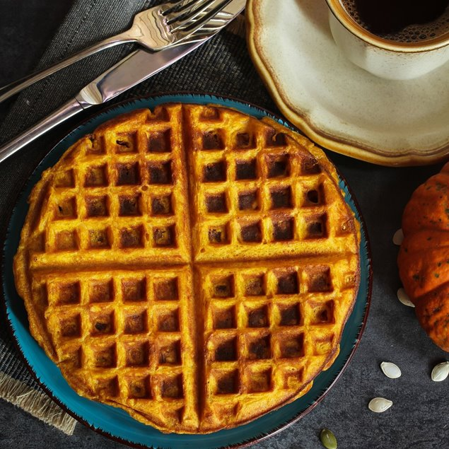 Picture of Sugar Free + KETO Pumpkin Spice Chaffles