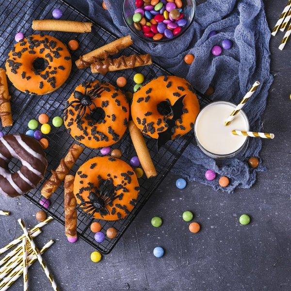Picture of Halloween Pumpkin Donut Kit