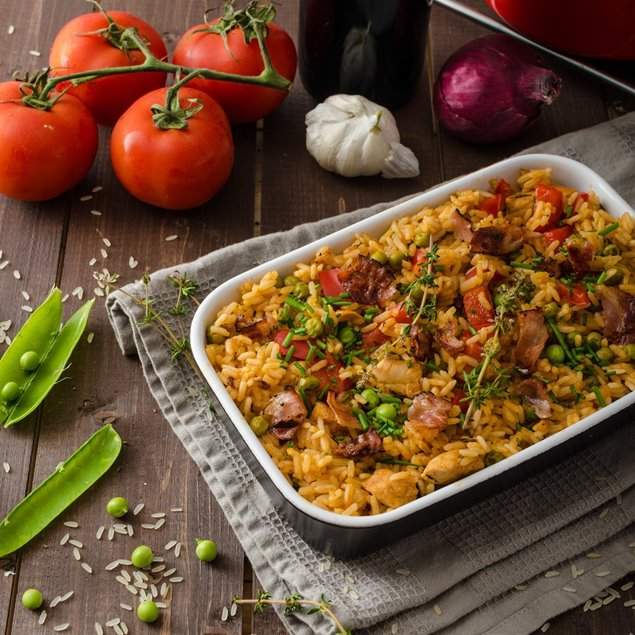 Picture of Cajun Beef and Rice Casserole