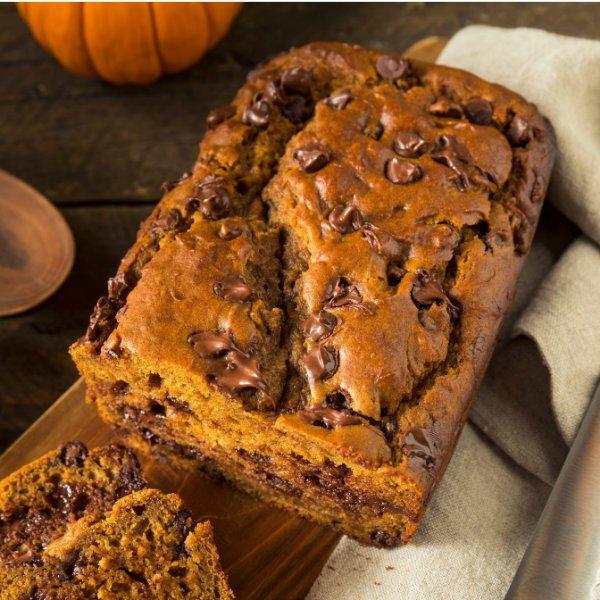 Picture of Sugar Free + KETO Pumpkin Chocolate Chip Bread