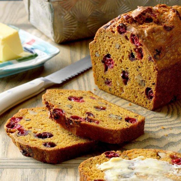 Picture of Pumpkin Cranberry Walnut Sourdough Spice Bread