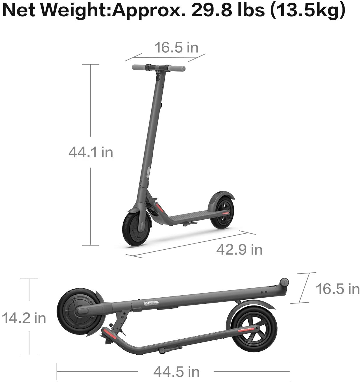 Segway Ninebot E22 Electric Kick Scooter Upgraded Motor