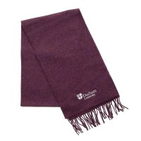 Lambswool Scarf Purple at Durham University Official Shop