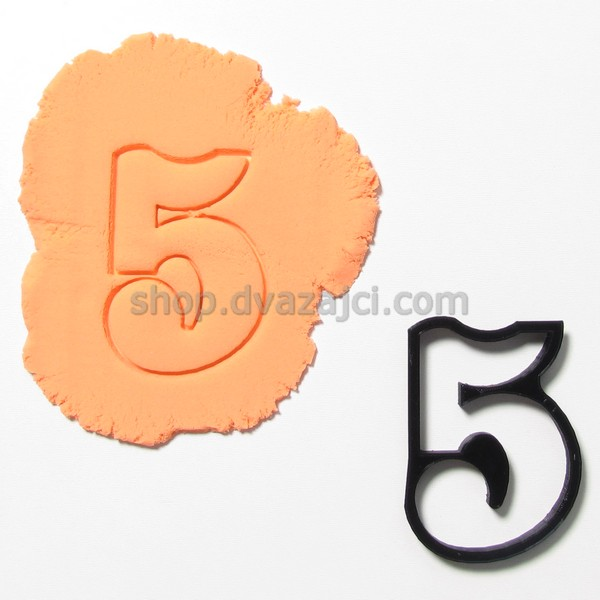 форма для печенья цифра 5