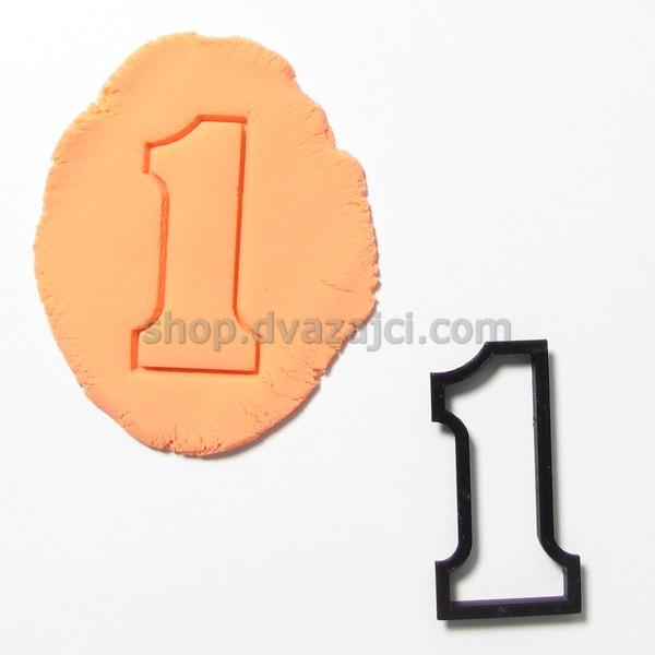 форма для печенья цифра 1