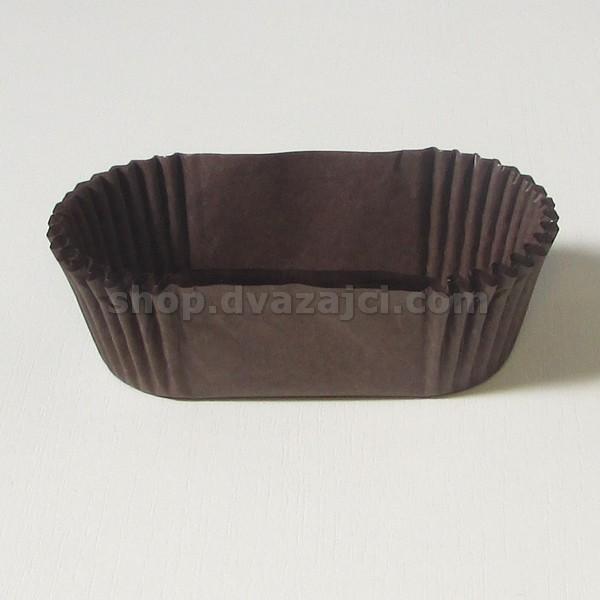 Бумажный стаканчик для эклеров 80х30 коричневый 25 штук