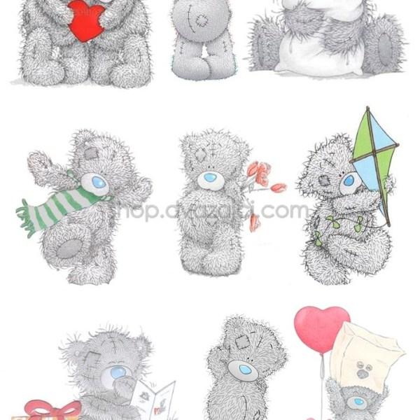 Мишка Тедди вафельная картинка А4