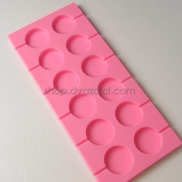 Форма силиконовая для леденцов 12 шт