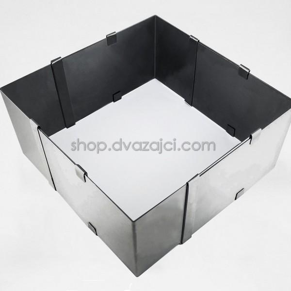 Раздвижная квадратная форма для выпечки h = 150 мм