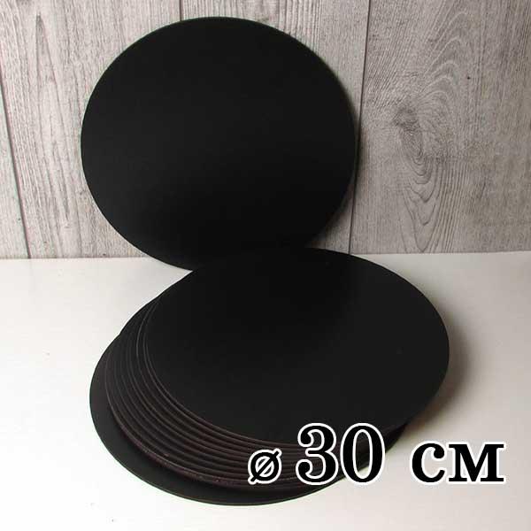 Подложка деревянная ламинированная черная 30 см