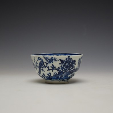 Lowestoft Two Peacock and Peony Pattern Teabowl and Saucer c1775-85 (2)