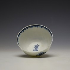 Lowestoft Two Peacock and Peony Pattern Teabowl and Saucer c1775-85 (7)