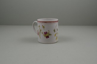 Bow Porcelain Hand Painted Pink Rose and Flower Sprays Coffee Can, C1760 (3)