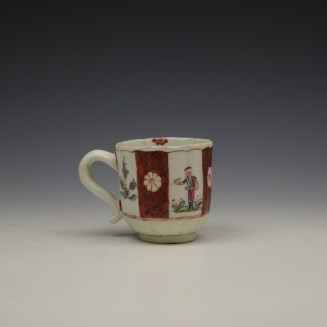 Derby Porcelain Scarlet Japan Mandarin Pattern Coffee Cup and Saucer c1758-80 (5)