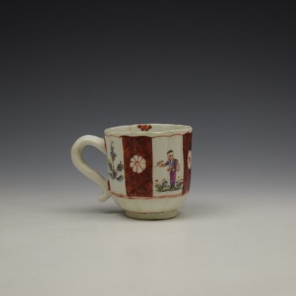 Derby Porcelain Scarlet Japan Mandarin Pattern Coffee Cup and Saucer c1758-80 (6)