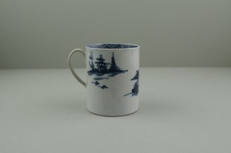 Liverpool Porcelain Pennington's Cannonball Pattern Coffee Can. 4